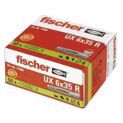 fischer Universaldübel UX 6 x 35 R mit Rand 50 Stück