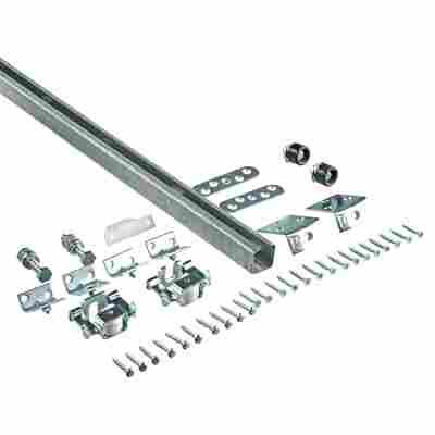 Schiebetürbeschlag Stahl verzinkt oben laufend 5,5 x 1850 mm