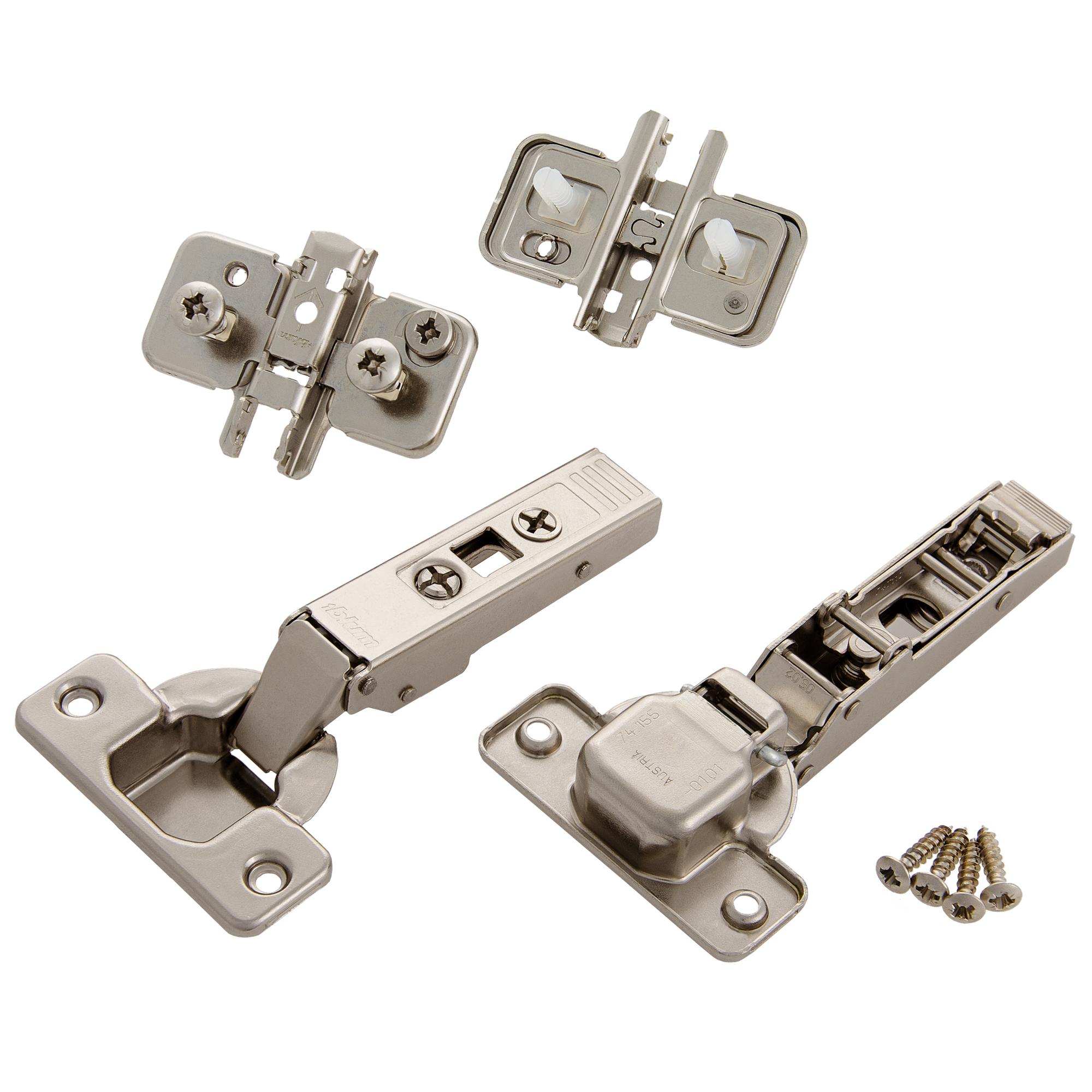 2 St/ück Lamellent/ürscharniere M/öbelscharniere Schrankscharniere Metall vermessingt 50 x 24mm