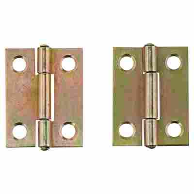 Scharniere Stahl verzinkt 22 x 30 mm 2 Stück
