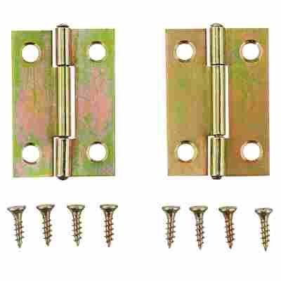 Scharniere Stahl verzinkt 32 x 40 mm 2 Stück