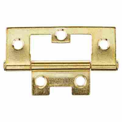 Lamellentürscharnier Stahl vermessingt 6,5 cm