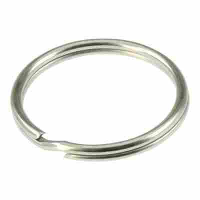 Schlüsselring Stahl vernickelt Ø 30 mm 3 Stück