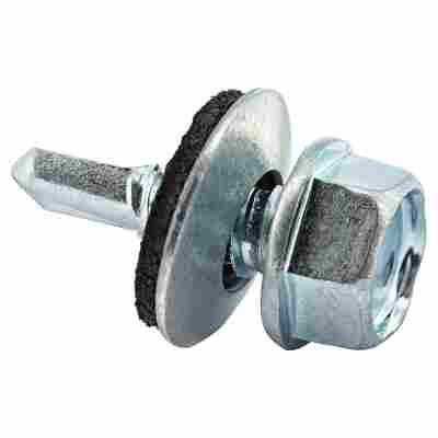 Fassadenbohrschraube SW10 Sechskantkopf Stahl verzinkt 6,3 x 22 mm 20 Stück
