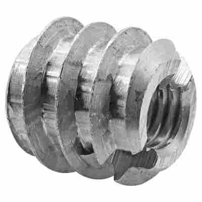 Einschraubmuttern M5 Stahl blank 6 Stück