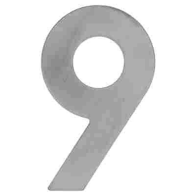 Hausnummer '9' 12 cm, silbern