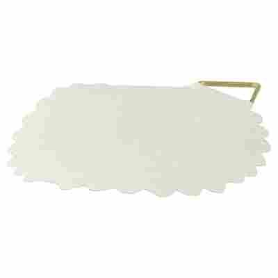 Bilderösen Leinen gummiert weiß Ø 45 mm 6 Stück