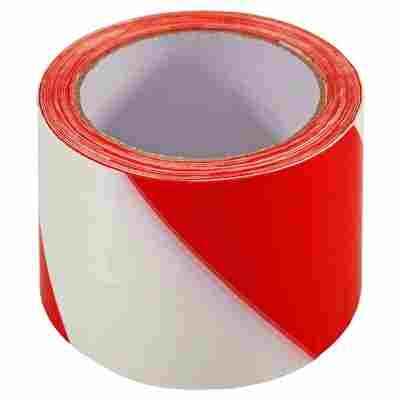 Absperrband selbstklebend rot-weiß 6 x 6600 cm