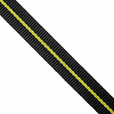 Gurtband schwarz/gelb Meterware 2,5 cm
