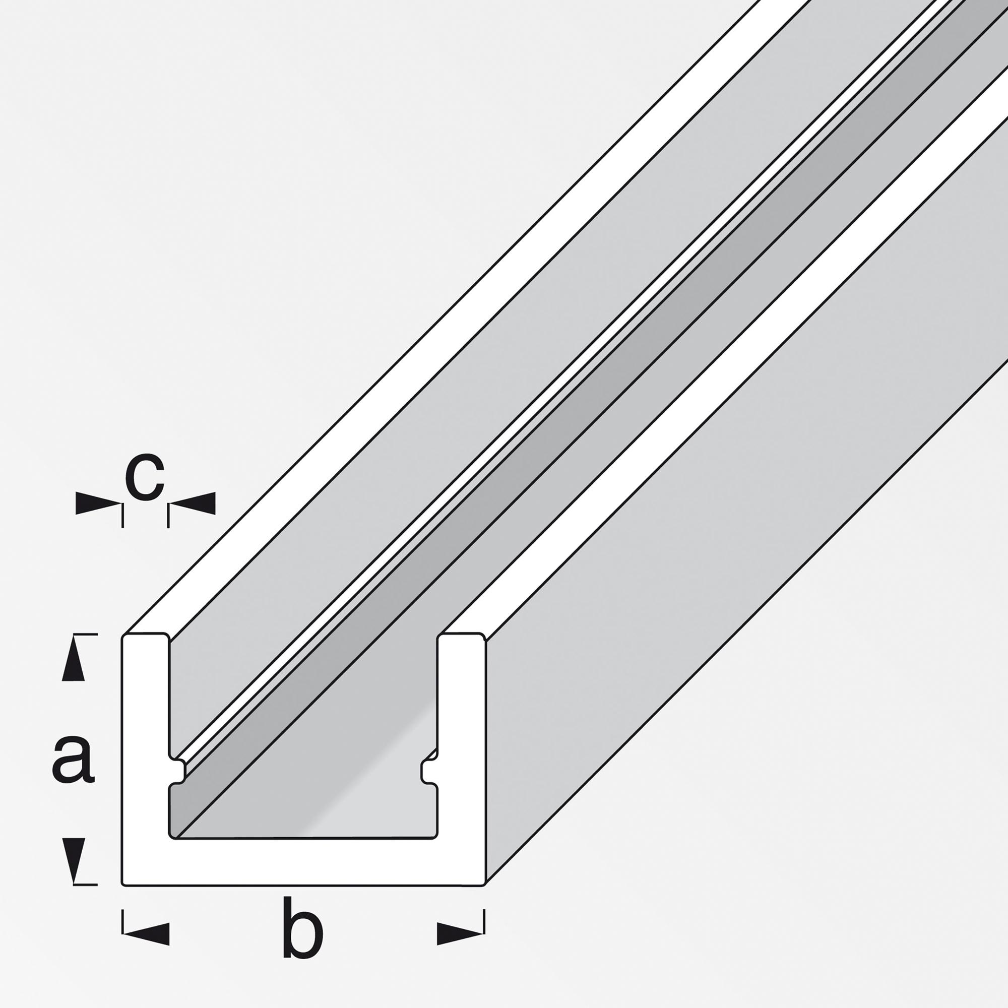 Alfer U-Profil 100 x 1 x 2,25 cm