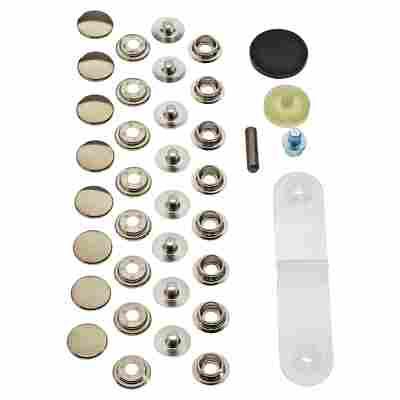 Druckknopfset für Sport und Camping Ø 15 mm 8 Stück