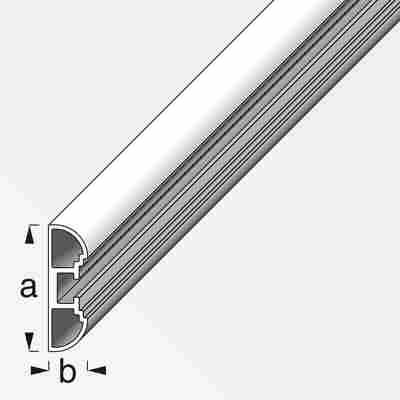 """Aluminium-Profil """"coaxis"""" weiß 2500 x 35,5 x 11 mm"""