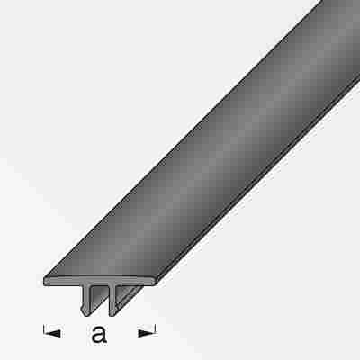 Abdeckleiste Coaxis® PVC schwarz 100 x 1,6 cm