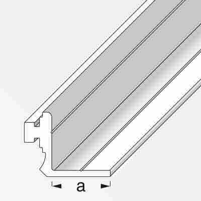 Anschlagprofil Coaxis® Aluminium 100 x 2,35 cm