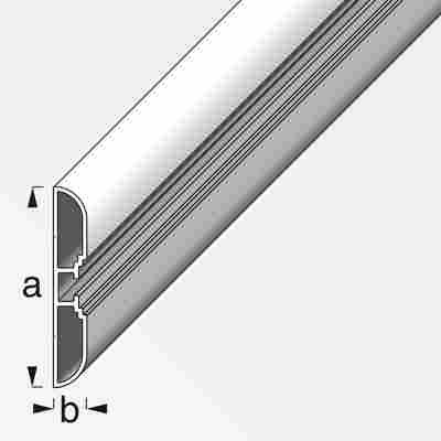 Profil Coaxis® Aluminium weiß 100 x 6 x 1 cm