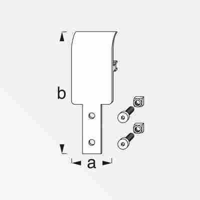 Abhängungsplatte Coaxis® blank Aluminium 105 x 35,5 mm