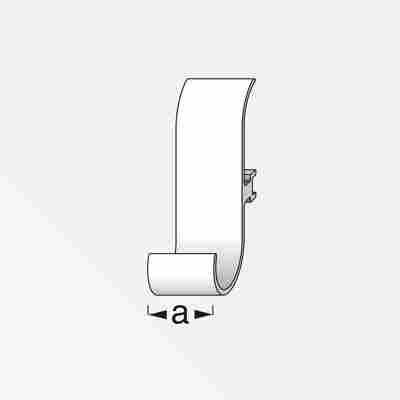 Universalhaken Coaxis® Aluminum weiß 2 Stück