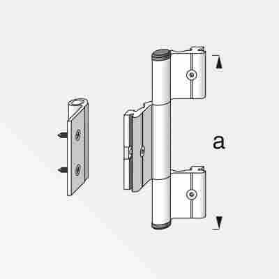 Scharnier Coaxis® blank Aluminium 115 mm