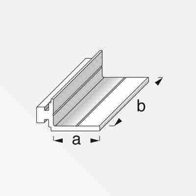 Auflageprofil Coaxis® blank Aluminium 50 x 23,5 mm
