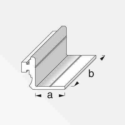 Anschlagprofil Coaxis® blank Aluminium 50 x 23,5 mm