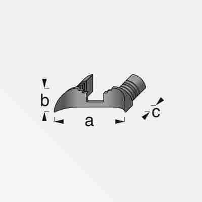 Verbindungskappe für Coaxis®-Profil schmal 35,5 x 11,0 x 9,5 mm