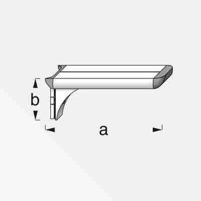 Regalträger Coaxis® blank Aluminium 250 x 51 mm
