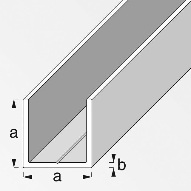 alfer quadrat u profil kunststoff wei 250 x 1 95 cm toom baumarkt. Black Bedroom Furniture Sets. Home Design Ideas
