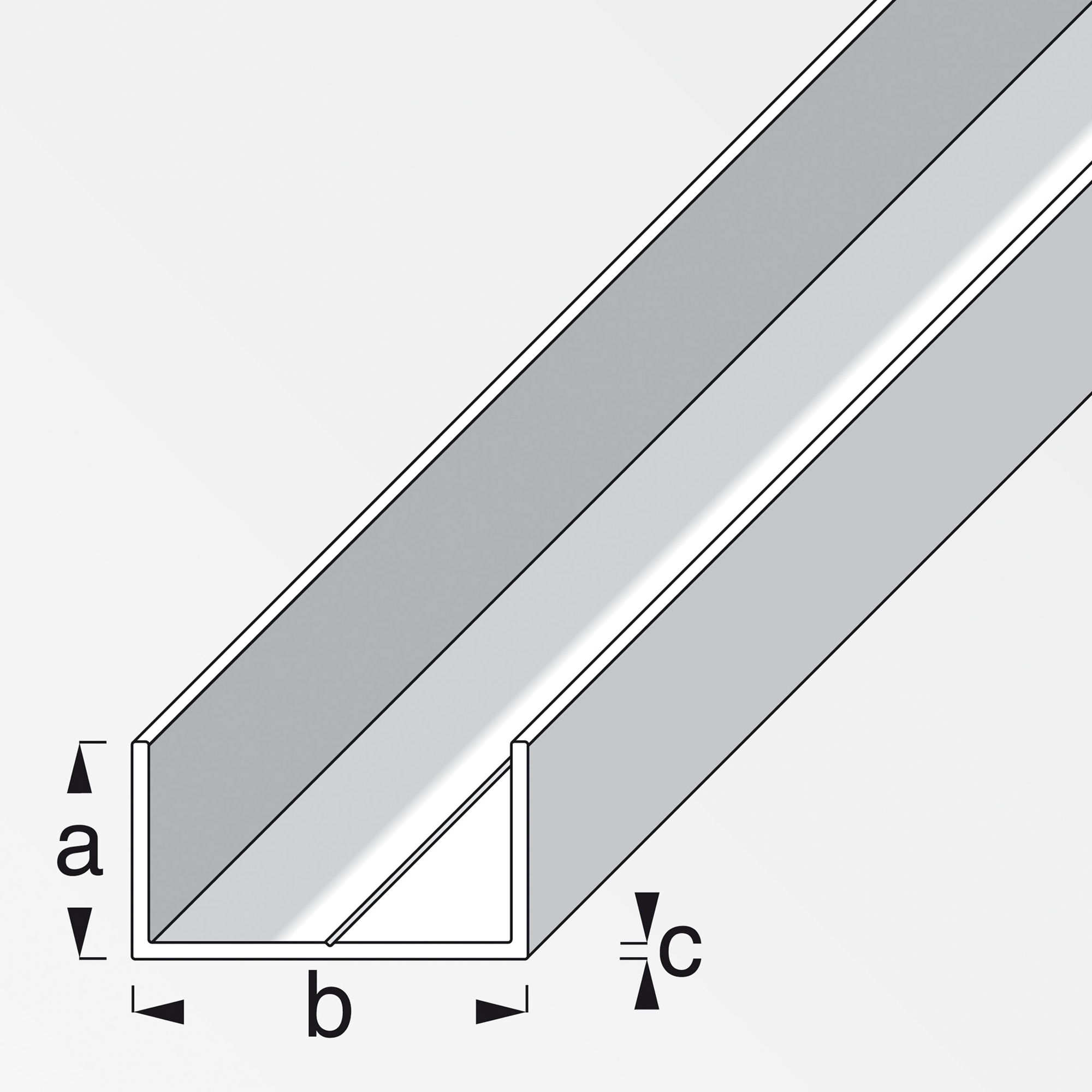 Alfer U-Profil rechteckig weiß 100 x 2,75 x 1,55 cm ǀ toom