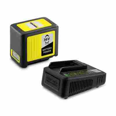 Starter-Kit 'Battery Power 36/50' Wechselakku mit Schnellladegerät, 36 V 5 Ah