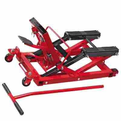 Motorradhebebühne rot, bis 680 kg
