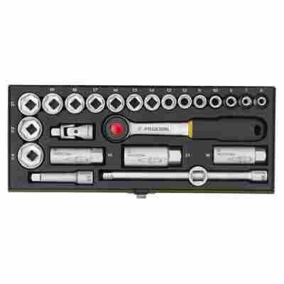 """Steckschlüsselsatz """"Industrial"""" mit Ratschenschlüssel 3/8"""" 20-tlg."""