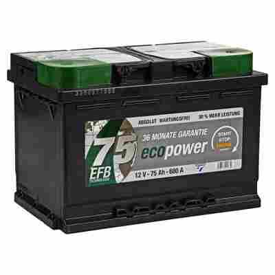 Autobatterie 'Eco Power' 12 V 75 Ah