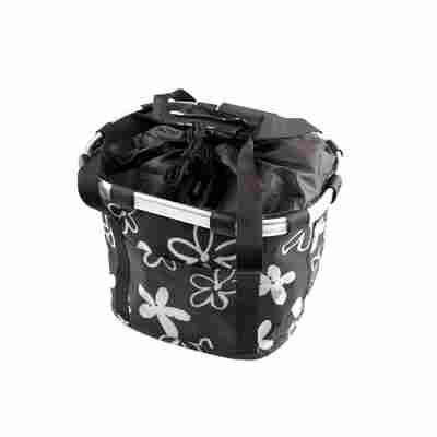 Fahrrad-Einkaufskorb Textil schwarz-weiß