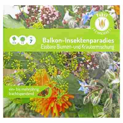 """Blumen- und Kräutermischung essbar """"Balkon-Insektenparadies"""""""
