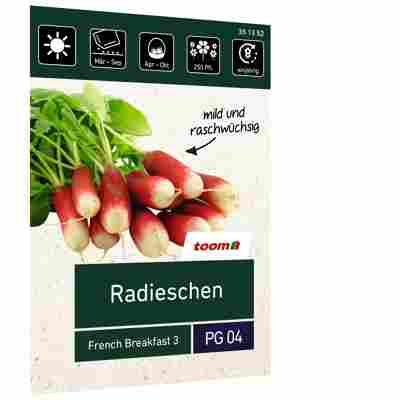 Radieschen 'French Breakfast 3'
