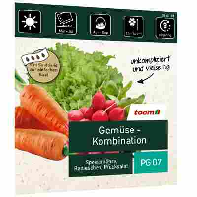 Gemüse-Kombination Saatband 5 m