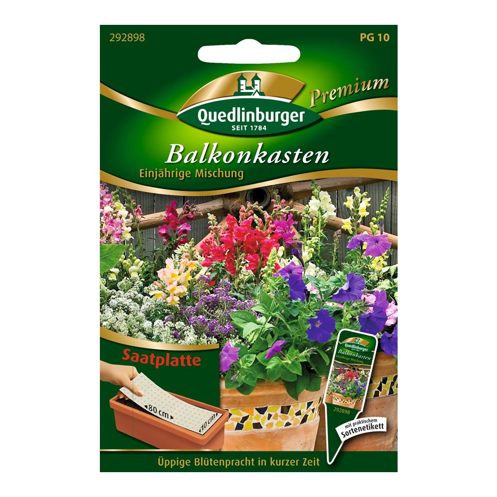 Quedlinburger Balkonkasten-Blumenmix Einjährige Mischung Saatplatte