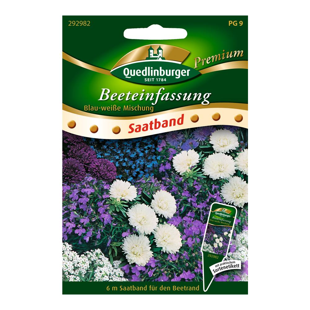 Quedlinburger Beeteinfassung Blau-weiße Mischung