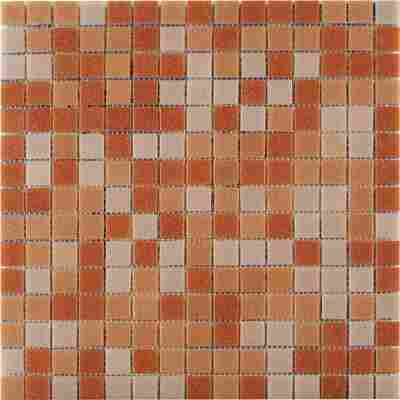 Mosaikfliese Glas Mix Color lachs 32,5x32,5cm
