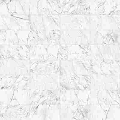 Bodenfliese 'Statuario' weiß-grau 30,2 x 60,8 cm