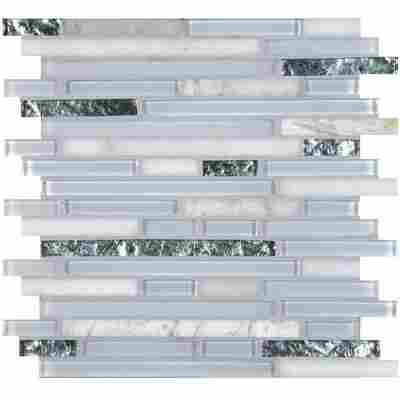 Mosaikfliese Cristallo super white 30,5 x 30,5 cm