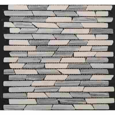 Mosaikfliese Vein grey 30x30cm