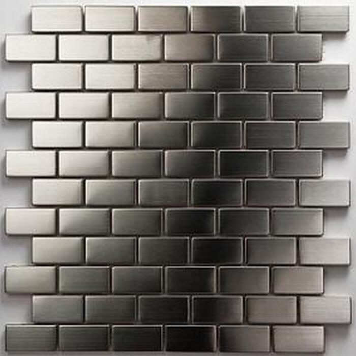 Mosaik Metall silber 30 x 30 cm ǀ toom Baumarkt