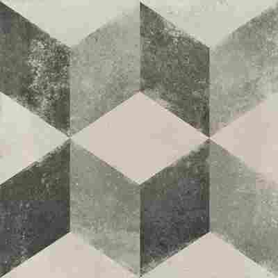 Bodenfliese 'Vintage Cubo' grau 20 x 20 cm