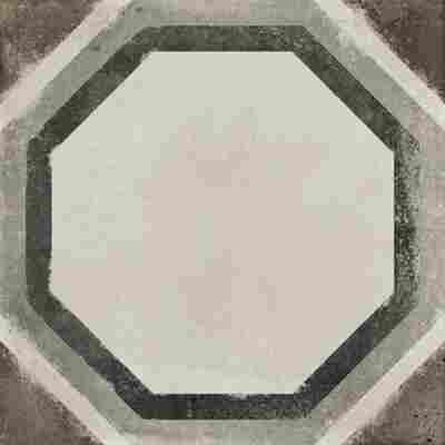 Bodenfliese 'Vintage Ottagono' grau 20 x 20 cm