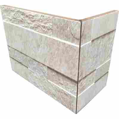 Außenecke 'Quarzi white' 10 x 20 cm