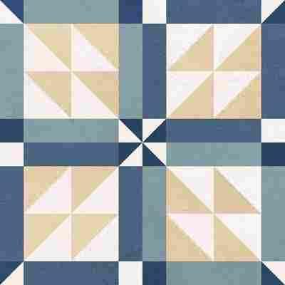 Bodenfliese 'Primavera Retro' bunt 18,6 x 18,6 cm