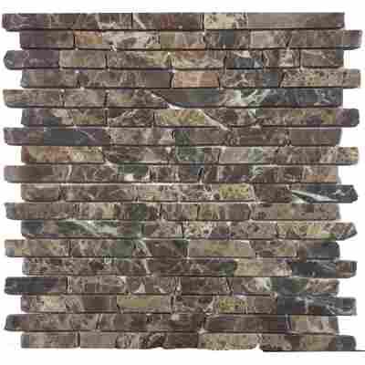Mosaikfliese Loox Emperador Marron 30x30cm