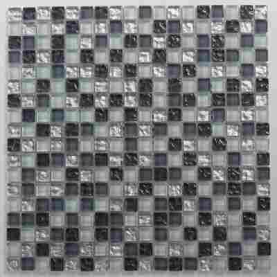 Mosaikfliese Vesuvio grau-silber 30x30cm