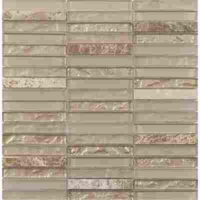 Mosaikfliese Loox Zebra malt beige 30x30,6cm